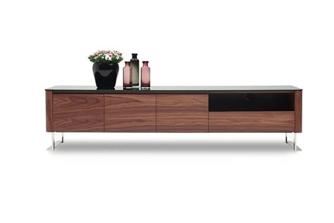 Julian Modern Tv Base For Tvs Up To 78  Walnut Veneer By .